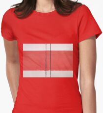 White Red White Women's Fitted T-Shirt