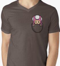 Pocket Toadette Men's V-Neck T-Shirt