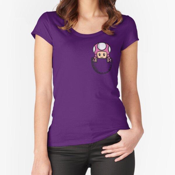 Pocket Toadette Fitted Scoop T-Shirt