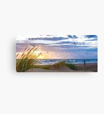 Sunset at the Dutch coast Canvas Print