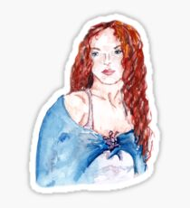 redhead girl Sticker