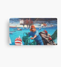 Maelstrom Mural - Construction Worker Canvas Print