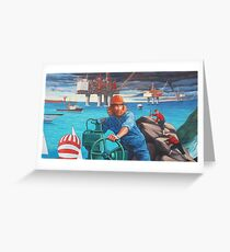 Maelstrom Mural - Construction Worker Greeting Card