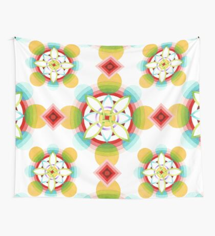 Geometric Blossoms Wall Tapestry