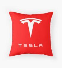 Tesla Logo Merchandise Throw Pillow