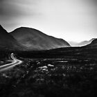 into Glen Etive by Dorit Fuhg