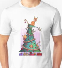 Christmas Cats Unisex T-Shirt