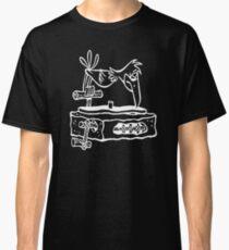 Flintstones Vinyl Record Dj Turntable Classic T-Shirt