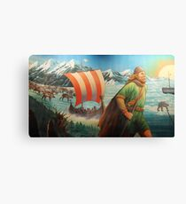 Maelstrom Mural - Viking Canvas Print