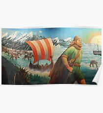 Maelstrom Mural - Viking Poster