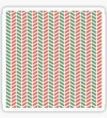Fun green and red weave stripes for Christmas decor Sticker