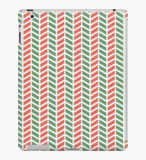 Fun green and red weave stripes for Christmas decor iPad Case/Skin