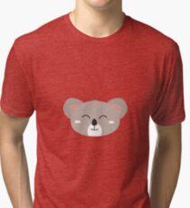 Happy Koala head Tri-blend T-Shirt