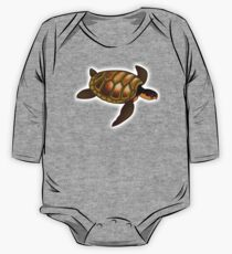 TURTLE, Green, sea turtle One Piece - Long Sleeve