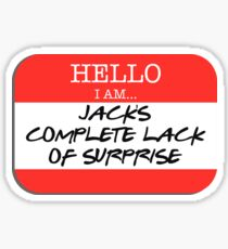 Fight Club - I am Jack's complete lack of surprise Sticker