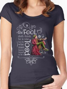 David Tennant Shakespeare Touchstone Quote Art Women's Fitted Scoop T-Shirt