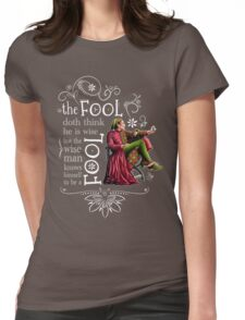 David Tennant Shakespeare Touchstone Quote Art Womens Fitted T-Shirt