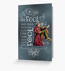 David Tennant Shakespeare Touchstone Quote Art Greeting Card