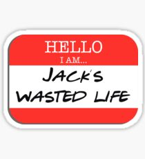 Fight Club - I am Jack's wasted life Sticker