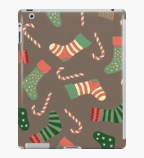 Christmas stockings and candy canes fun design  iPad Case/Skin