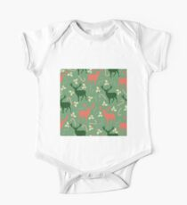 Deer and candy canes fun Christmas design  One Piece - Short Sleeve