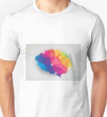Abstract geometric human brain, triangles, creativity Unisex T-Shirt