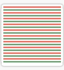 Red, green and white stripes, fun Christmas colours Sticker