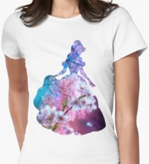 Flower Garden inspired Character Womens Fitted T-Shirt