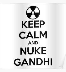 nuclear Gandhi! Poster