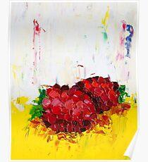 Slice of Raspberry Poster