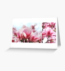 My Magnolia - diptych Greeting Card