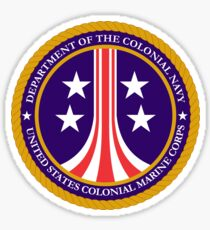 Colonial Marines emblem (full size) Sticker