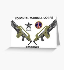 Colonial Marines Corps Reserves Greeting Card