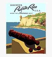 Vintage Discover Puerto Rico WPA Photographic Print