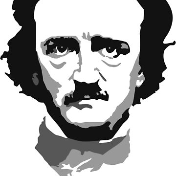 Edgar Allen Poe - Black and White by PCB1981