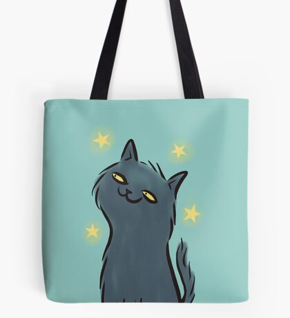 Black Cat at Night Tote Bag