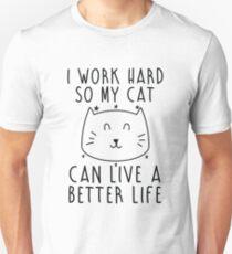 Camiseta ajustada Trabajo duro...