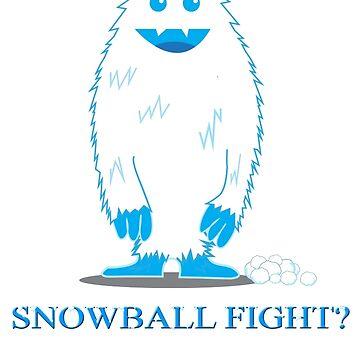 Yeti Snowball Fight! by TayRobertsArt