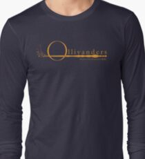 Ollivanders Logo in Yellow Long Sleeve T-Shirt