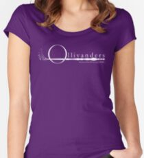 Ollivanders Logo in White Women's Fitted Scoop T-Shirt