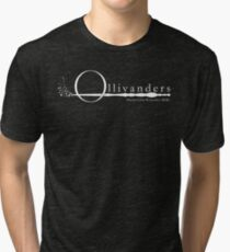 Ollivanders Logo in White Tri-blend T-Shirt