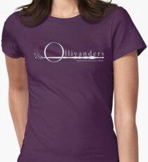 Ollivanders Logo in Weiß Tailliertes T-Shirt