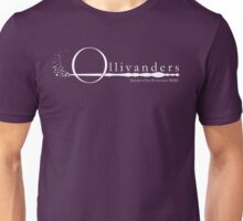 Ollivanders Logo in White Unisex T-Shirt