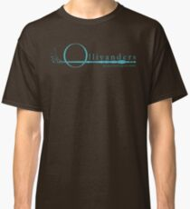 Ollivanders Logo in Blue Classic T-Shirt
