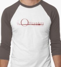 Ollivanders Logo in Red Men's Baseball ¾ T-Shirt