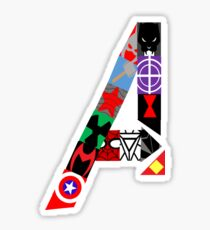 Superhero Symbols Sticker