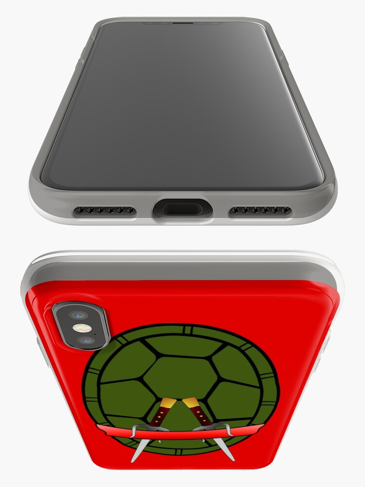 Vista alternativa de Funda y vinilo para iPhone TMNT Raphael Shell Case