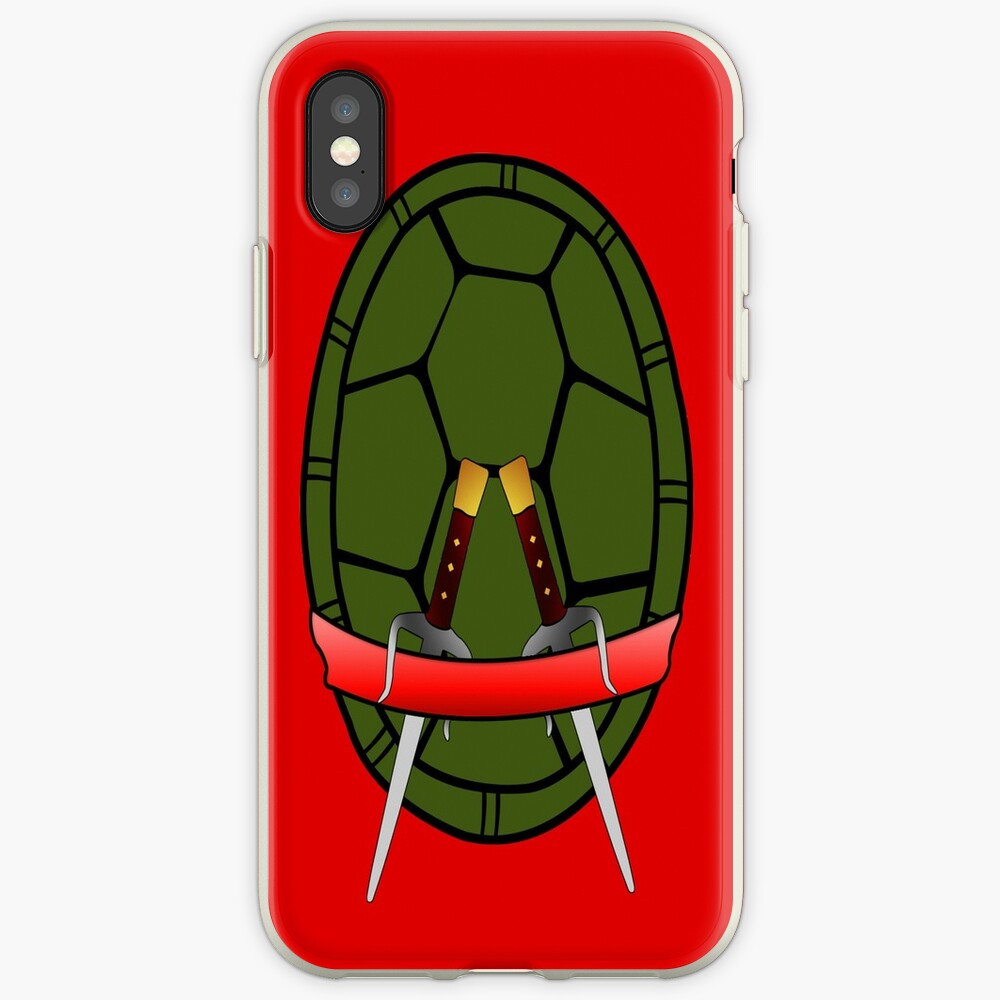 TMNT Raphael Shell Case Funda y vinilo para iPhone
