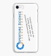 Aperture Science Laboratories iPhone Case/Skin