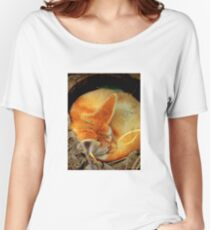 Fennec Fox Napping Women's Relaxed Fit T-Shirt